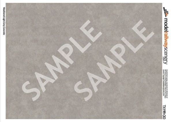TX199-OO Weathered Light Grey Concrete (Pack of 5) OO/4mm/1:76